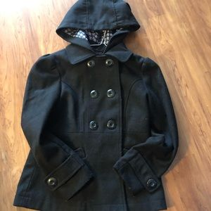 Other - Girls Black Peacoat